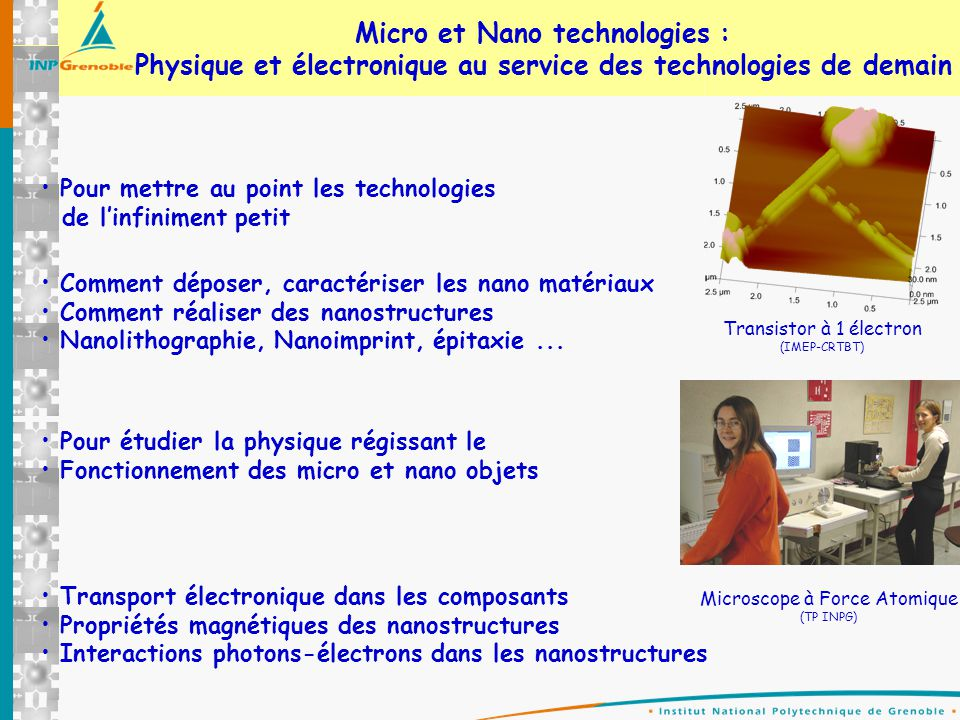 Micro et Nano technologies :