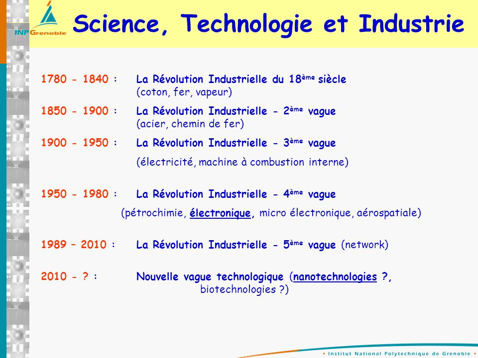 Science, Technologie et Industrie