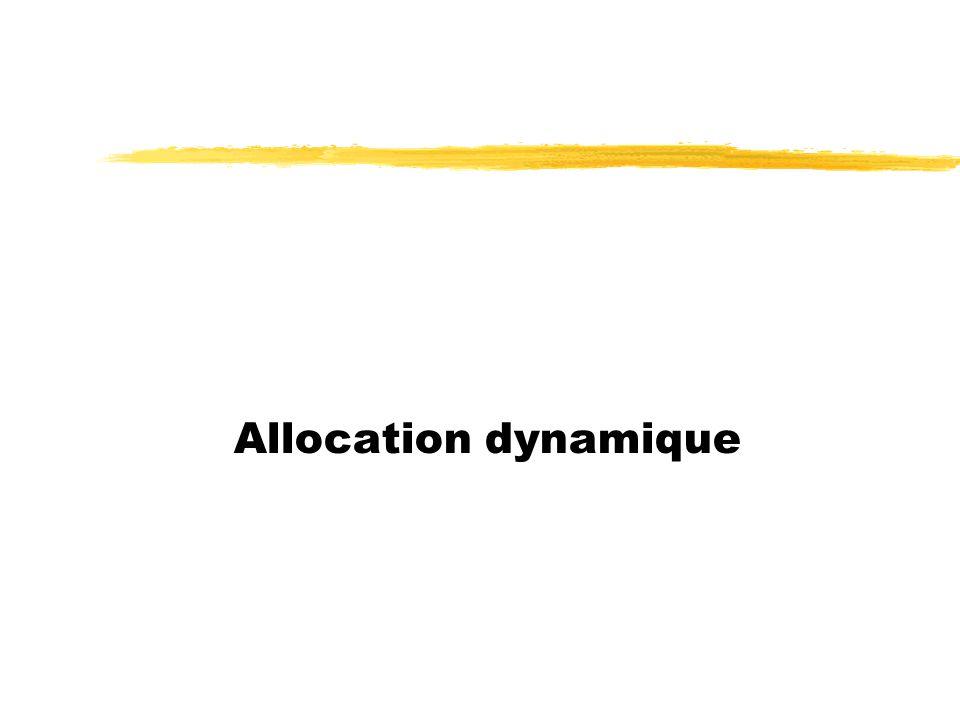 Allocation dynamique