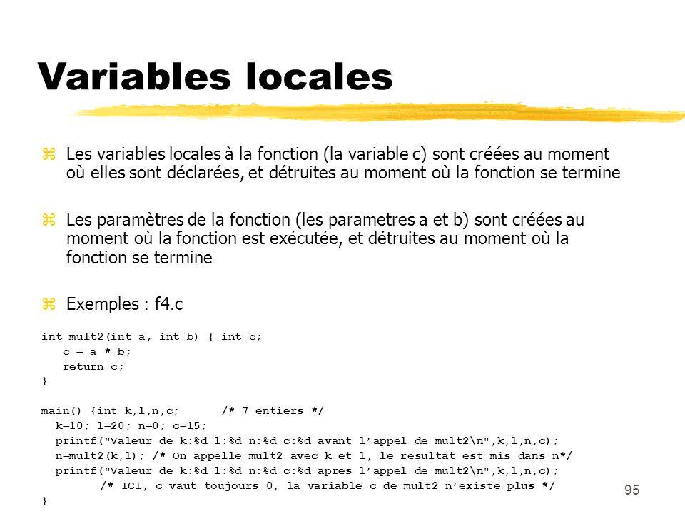 Variables locales