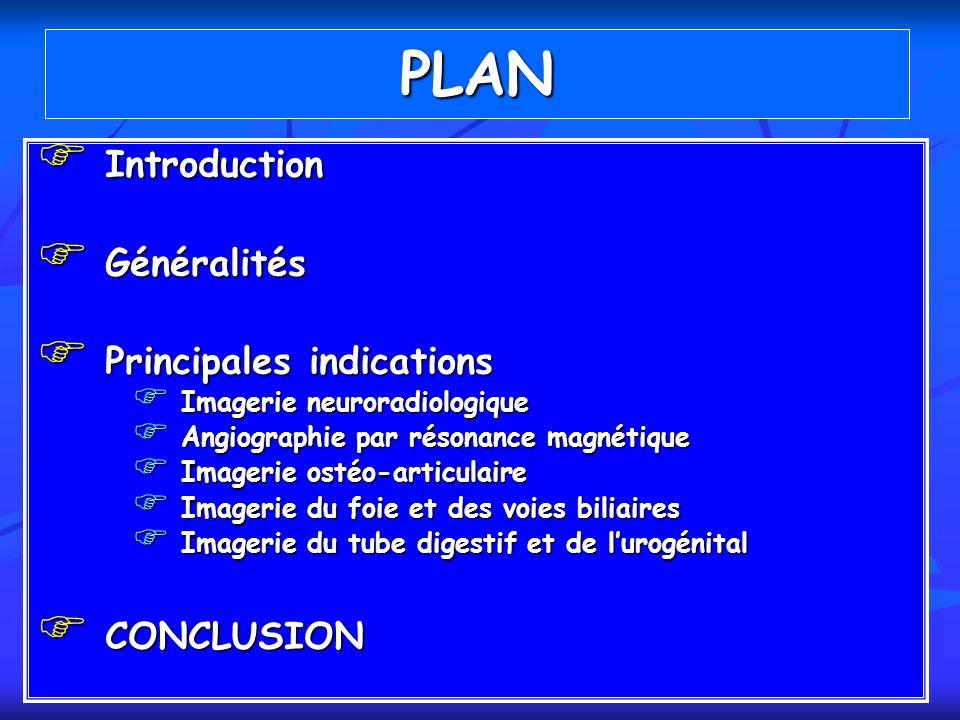 PLAN Introduction Généralités Principales indications CONCLUSION