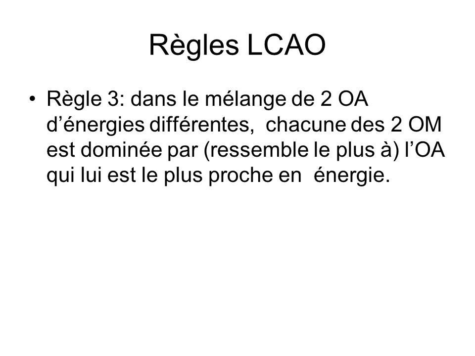 Règles LCAO