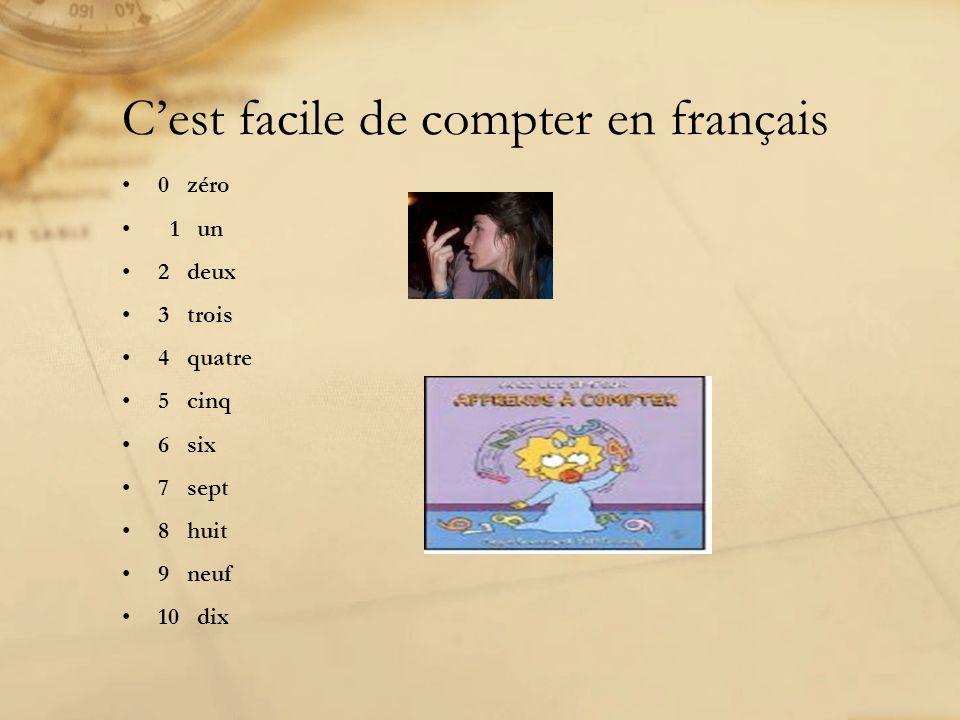C'est facile de compter en français