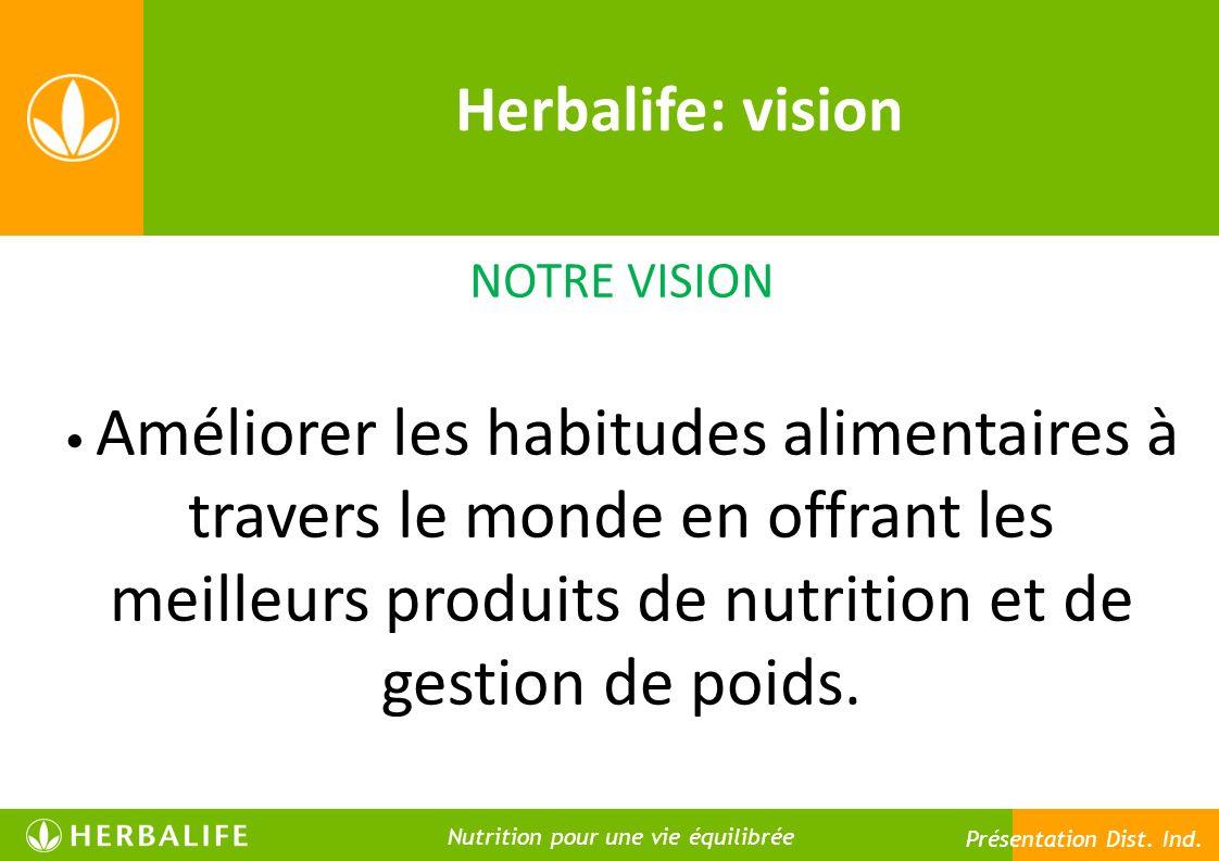 Herbalife: vision NOTRE VISION