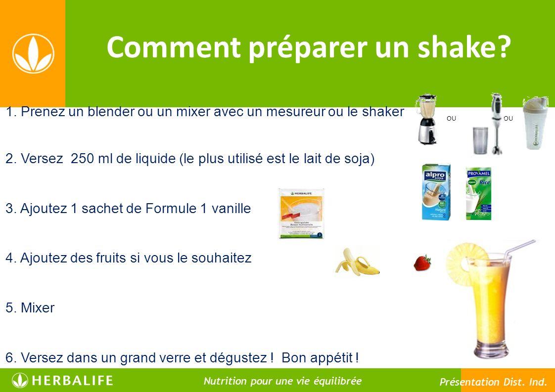 Comment préparer un shake