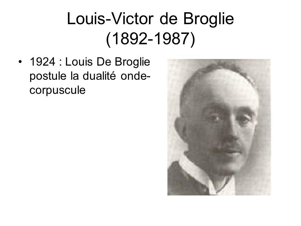 Louis-Victor de Broglie (1892-1987)