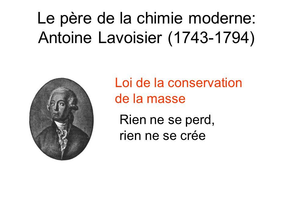 Le père de la chimie moderne: Antoine Lavoisier (1743-1794)
