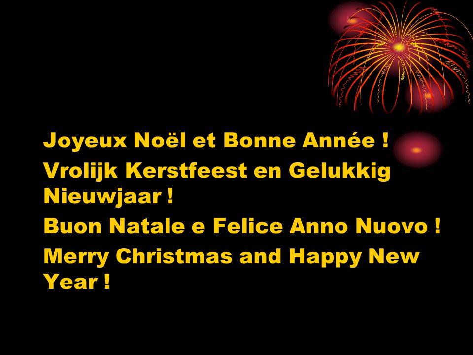 Joyeux Noël et Bonne Année !