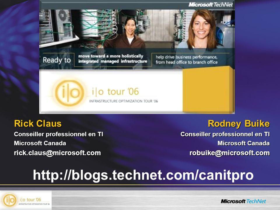 http://blogs.technet.com/canitpro Rick Claus Rodney Buike