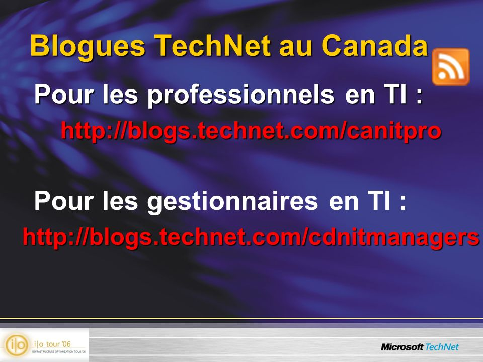 Blogues TechNet au Canada