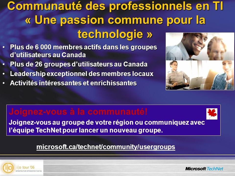 Communauté des professionnels en TI « Une passion commune pour la technologie »