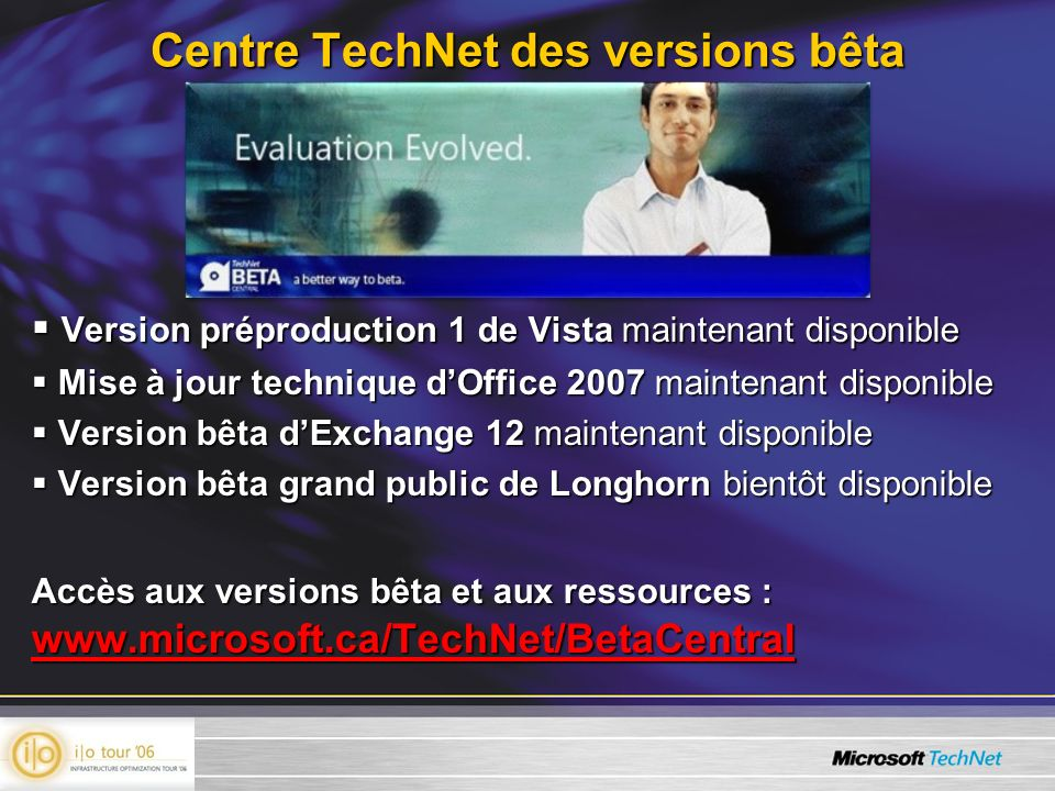 Centre TechNet des versions bêta