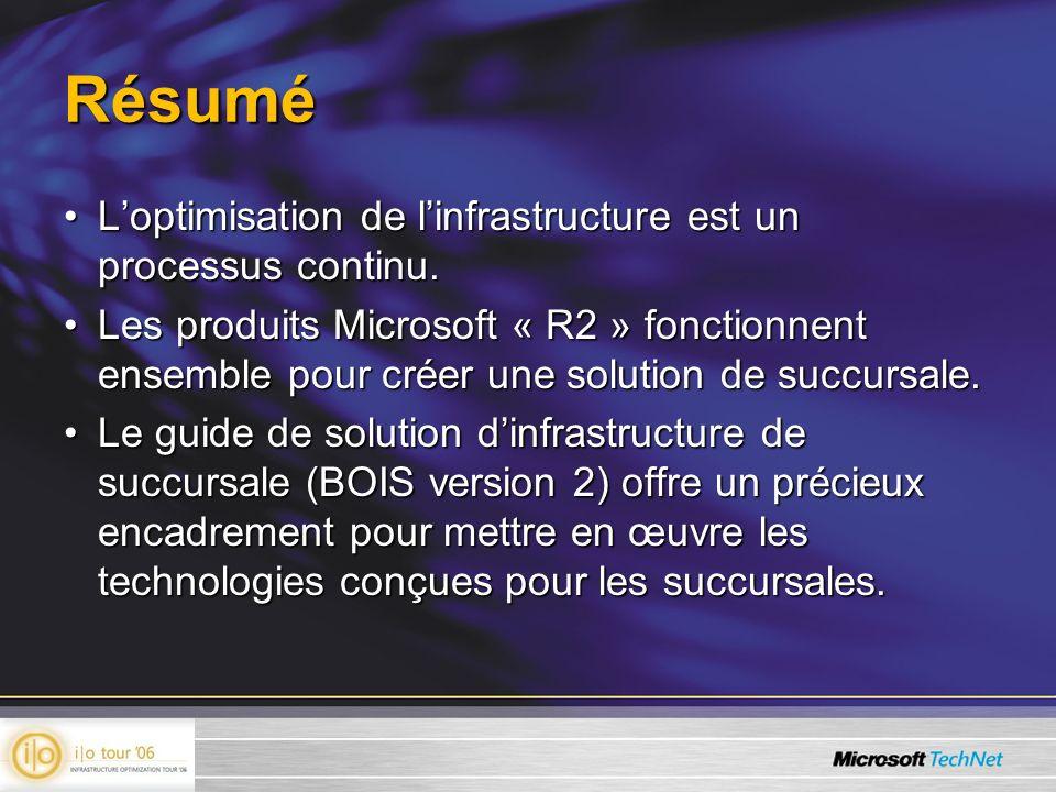 Résumé L'optimisation de l'infrastructure est un processus continu.