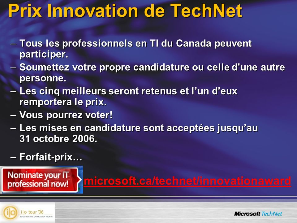 Prix Innovation de TechNet