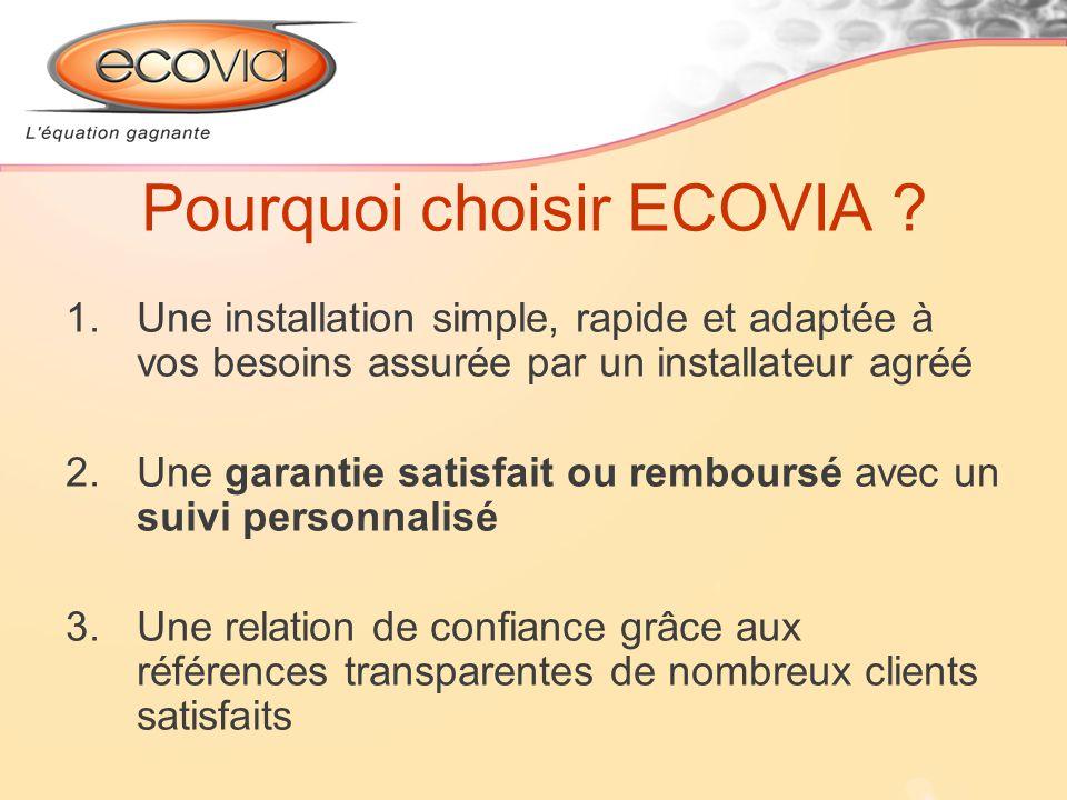 Pourquoi choisir ECOVIA