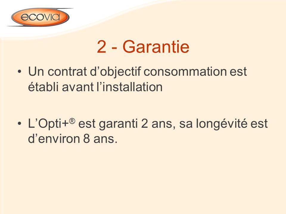 2 - Garantie Un contrat d'objectif consommation est établi avant l'installation.
