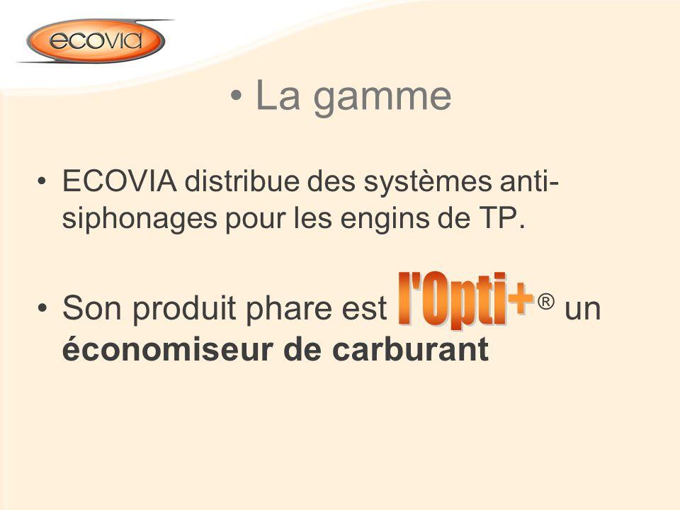 La gamme Son produit phare est ® un économiseur de carburant l Opti+