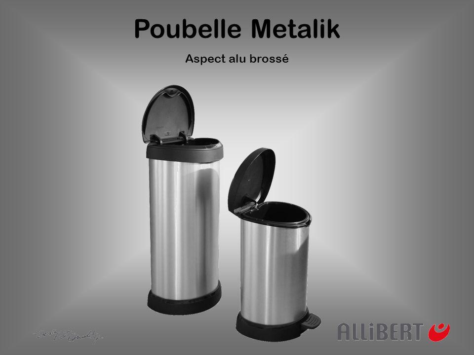 Poubelle Metalik Aspect alu brossé
