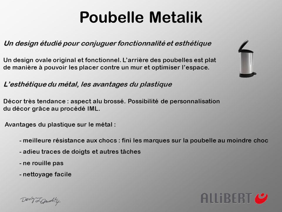 Poubelle Metalik Un design étudié pour conjuguer fonctionnalité et esthétique.