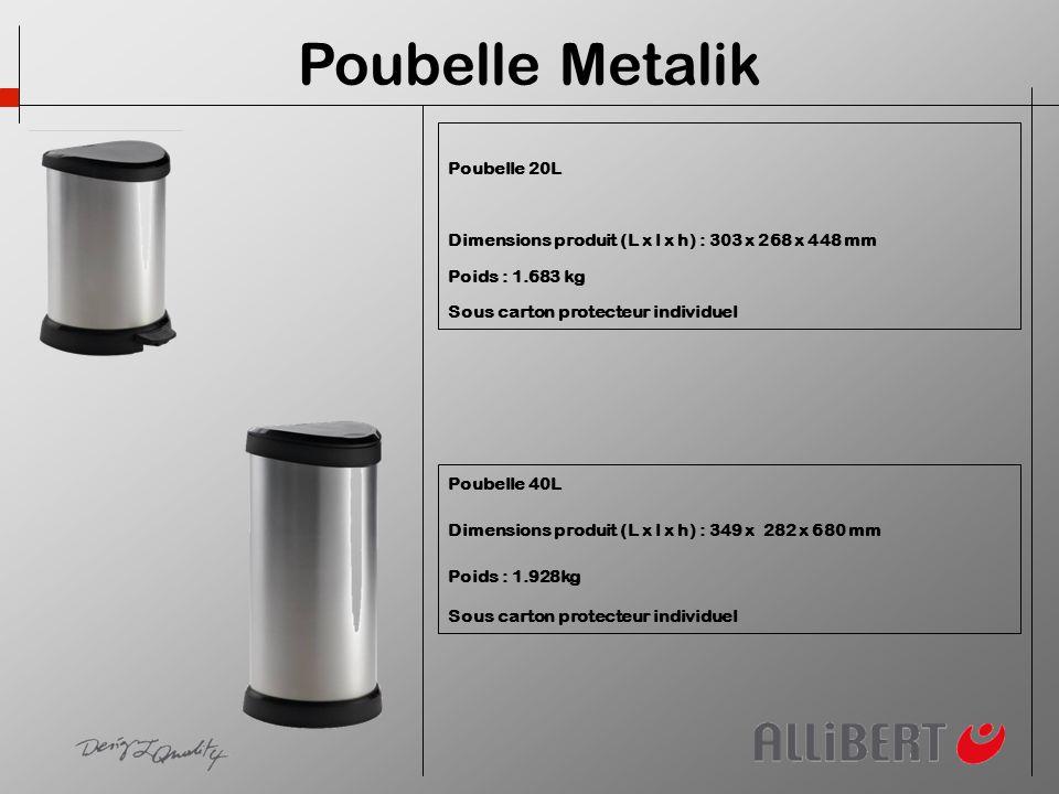 Poubelle Metalik Poubelle 20L