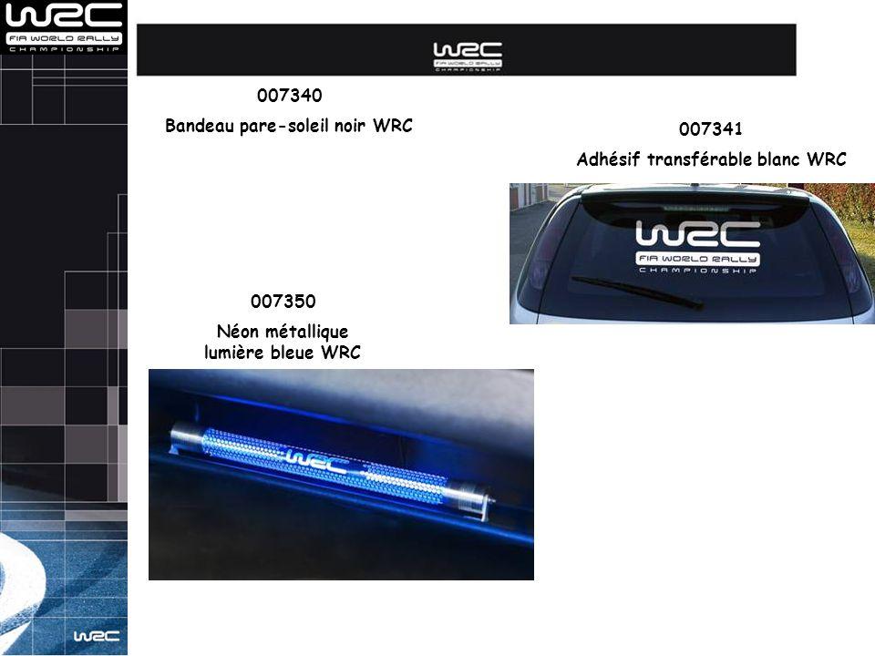 Bandeau pare-soleil noir WRC 007341 Adhésif transférable blanc WRC