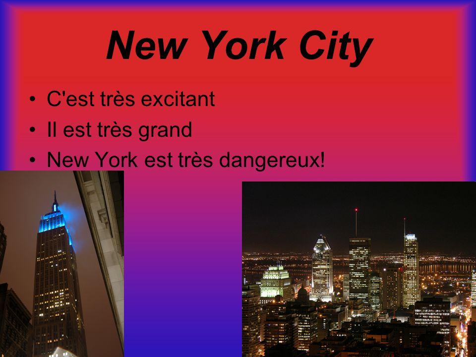 New York City C est très excitant Il est très grand