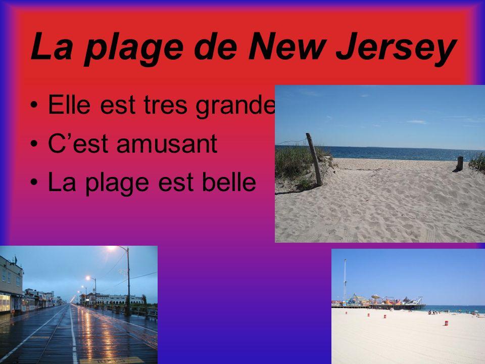 La plage de New Jersey Elle est tres grande C'est amusant