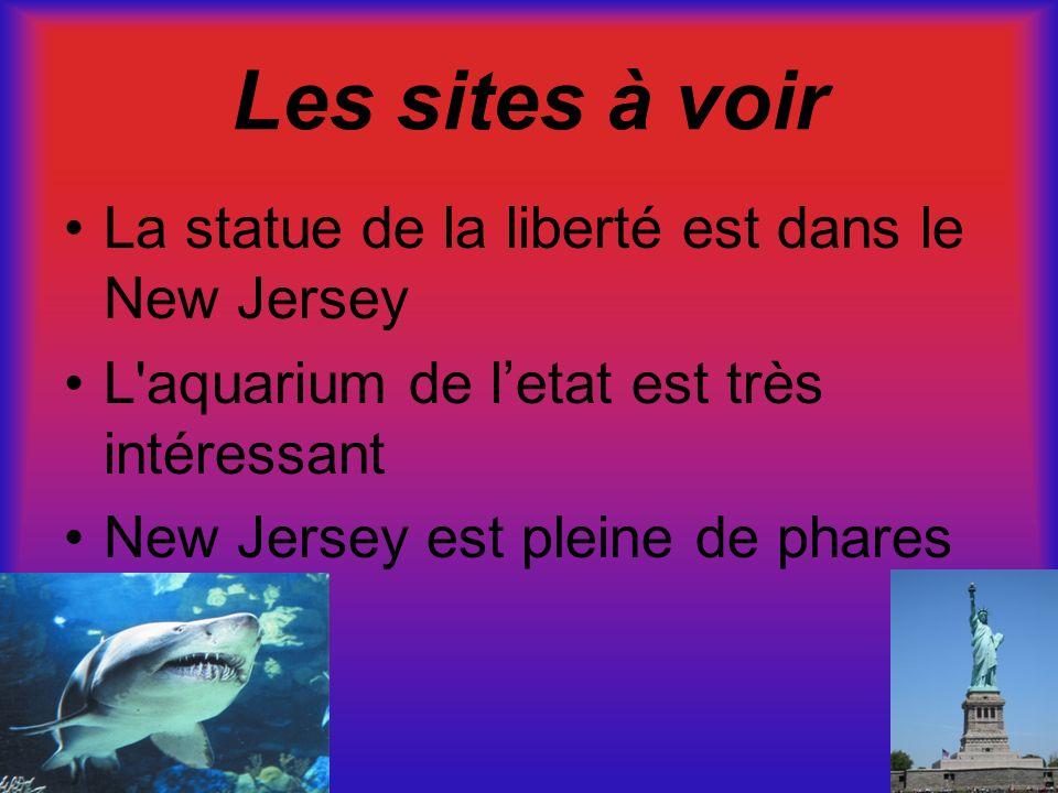 Les sites à voir La statue de la liberté est dans le New Jersey