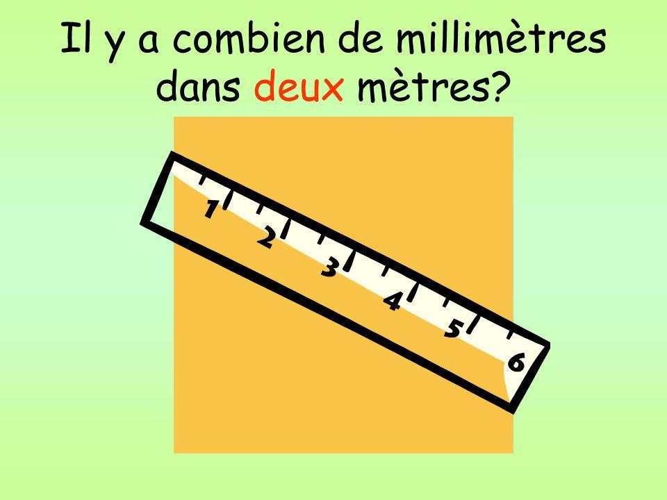Il y a combien de millimètres dans deux mètres