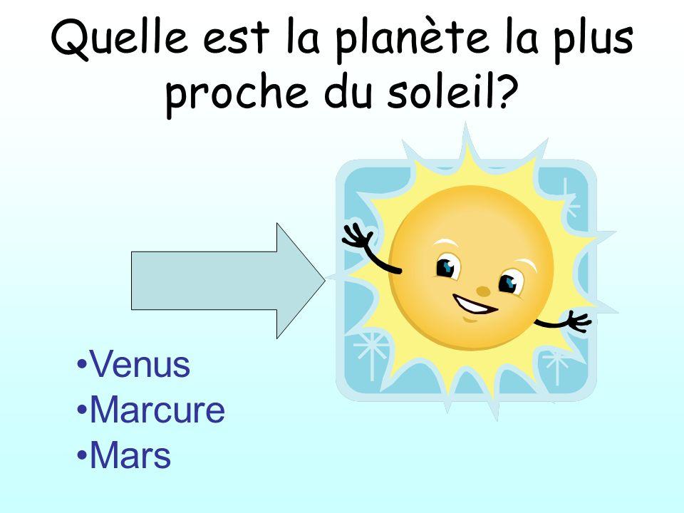 Quelle est la planète la plus proche du soleil
