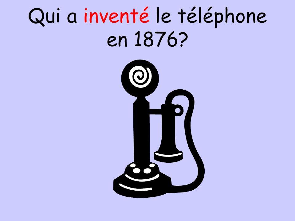 Qui a inventé le téléphone en 1876