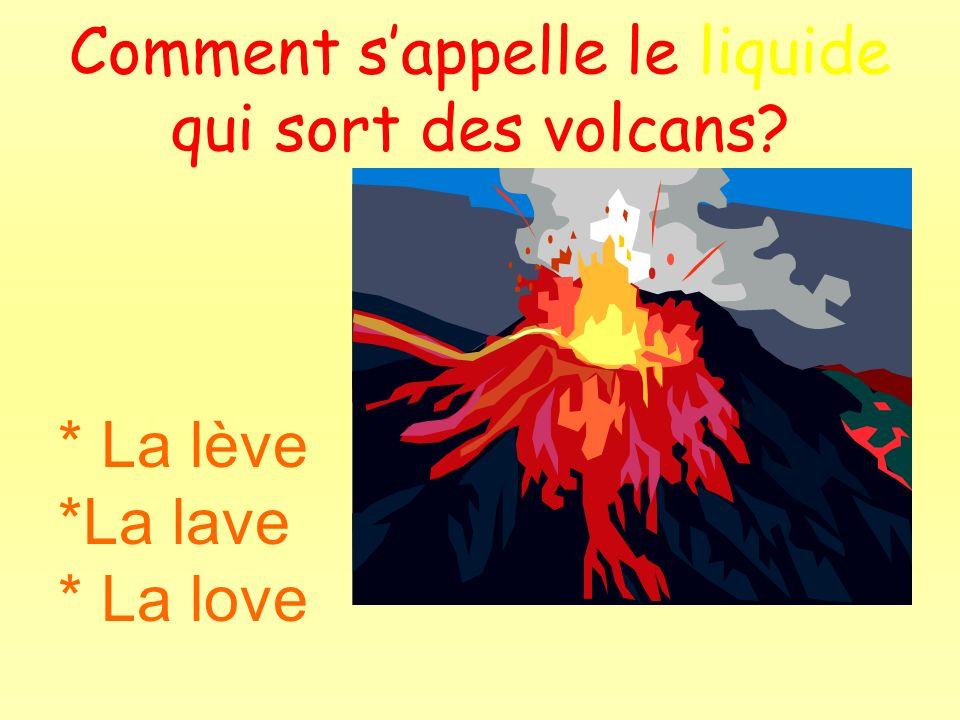 Comment s'appelle le liquide qui sort des volcans