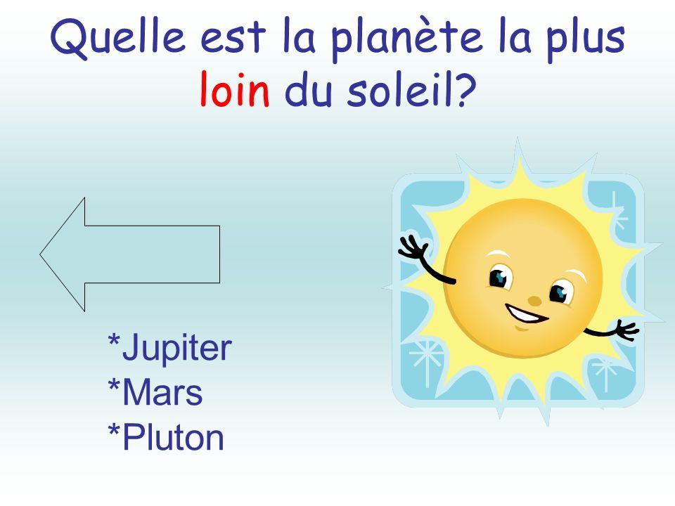 Quelle est la planète la plus loin du soleil