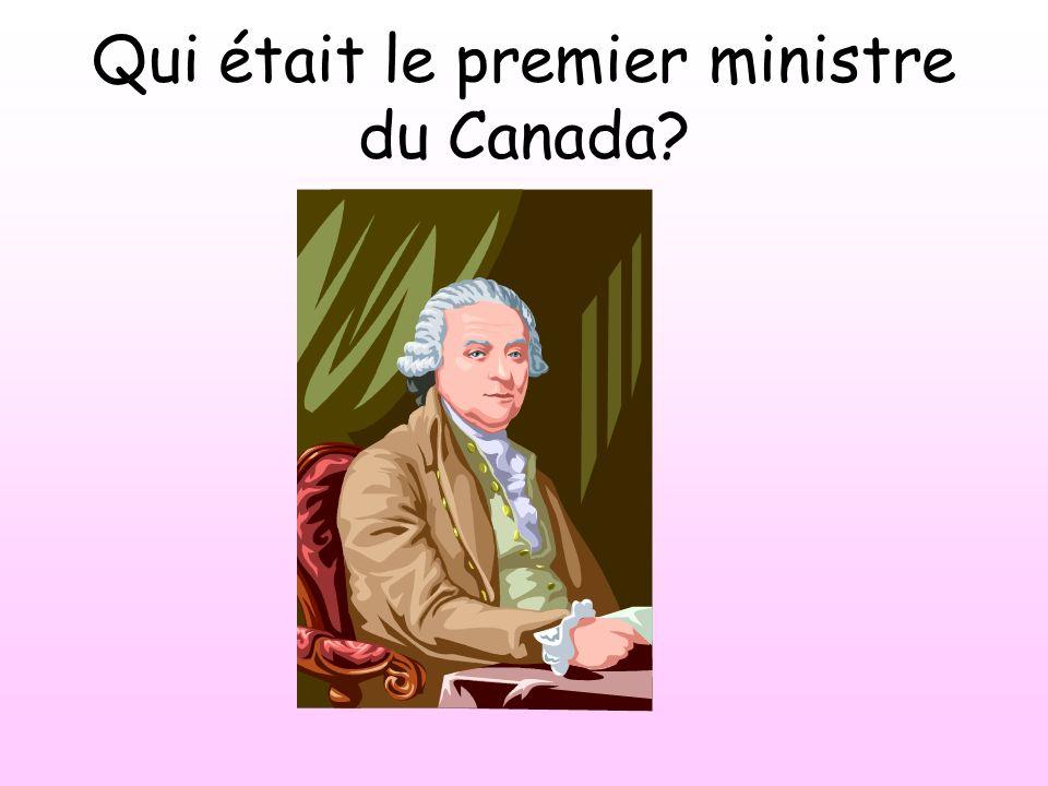 Qui était le premier ministre du Canada
