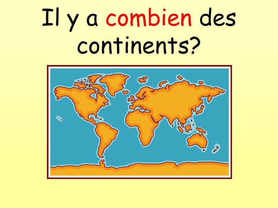 Il y a combien des continents
