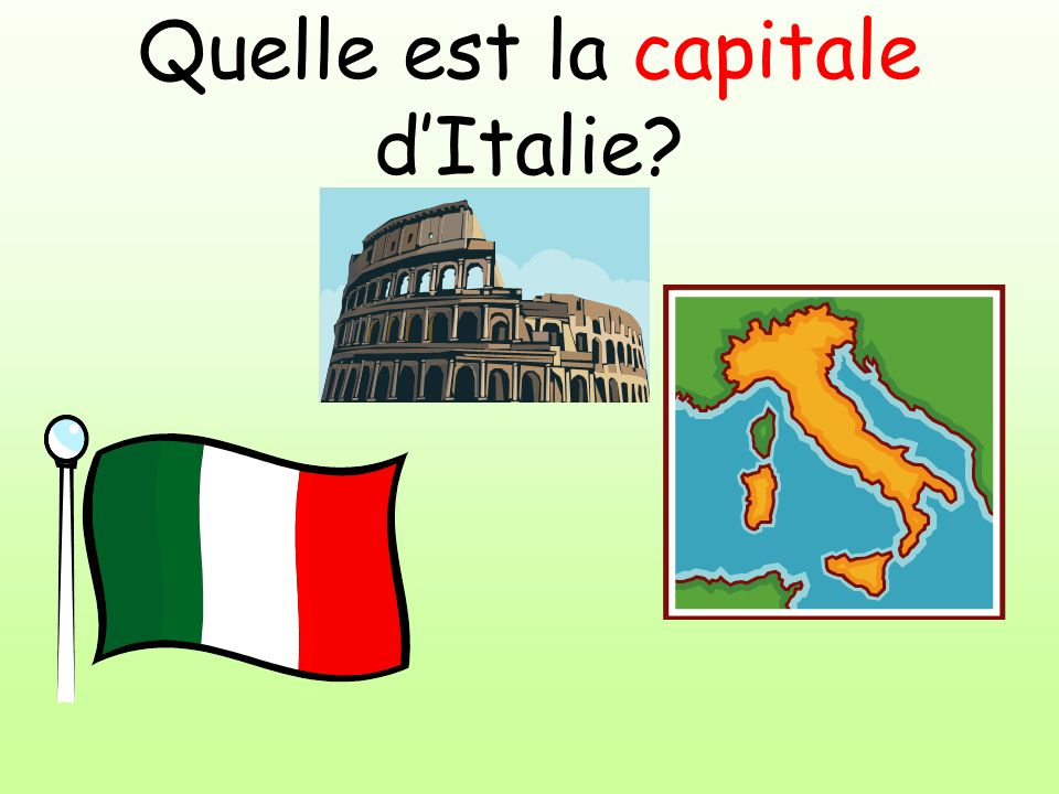 Quelle est la capitale d'Italie