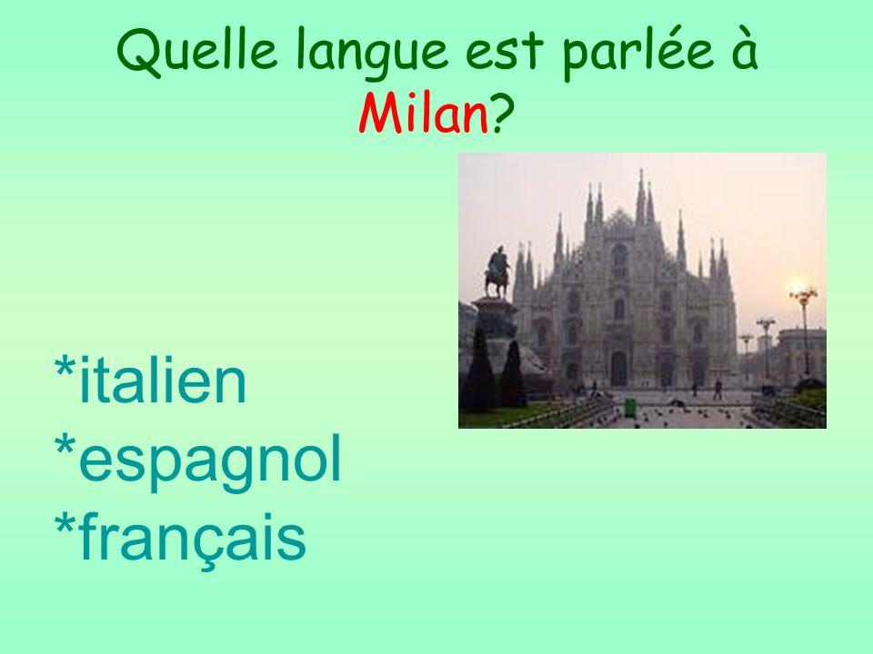 Quelle langue est parlée à Milan