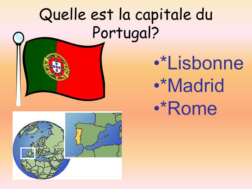 Quelle est la capitale du Portugal