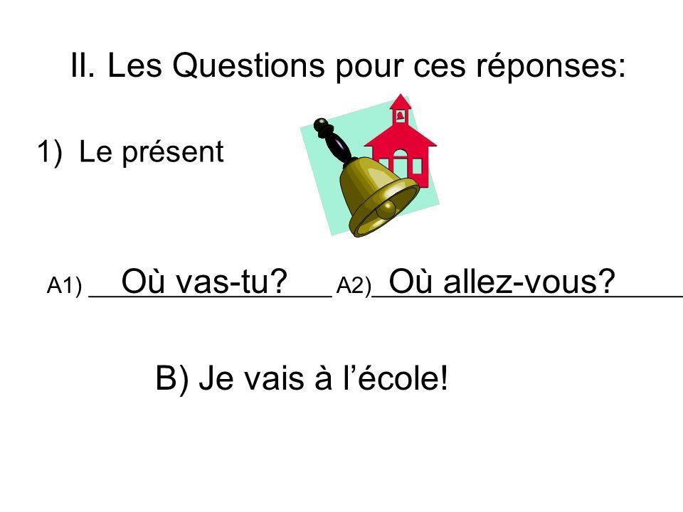 II. Les Questions pour ces réponses: