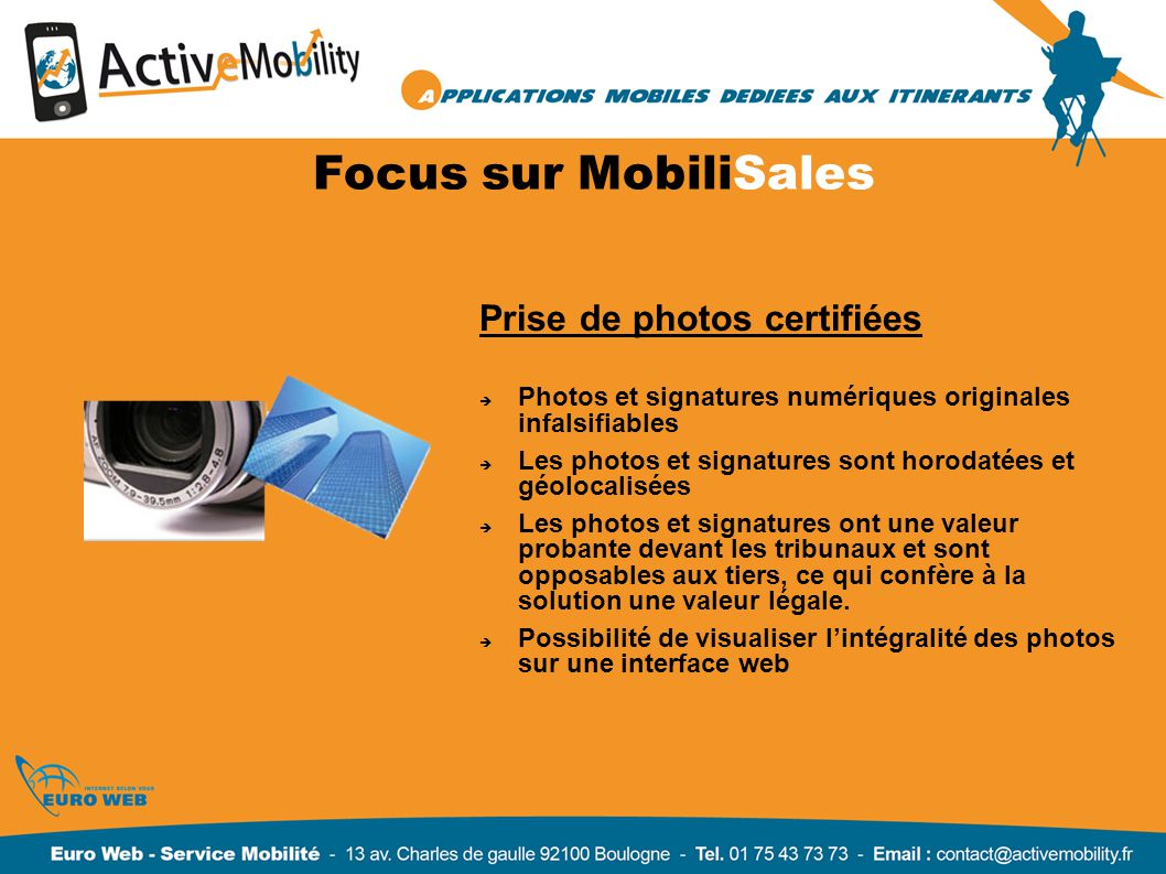 Focus sur MobiliSales Prise de photos certifiées