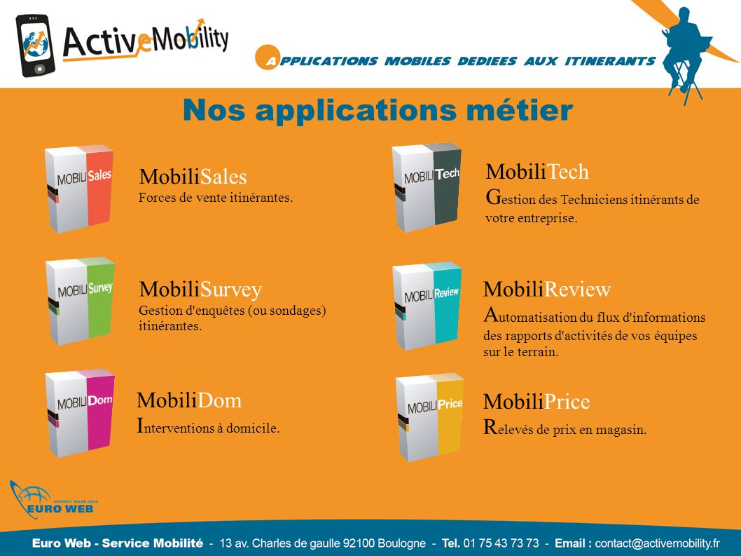 Nos applications métier