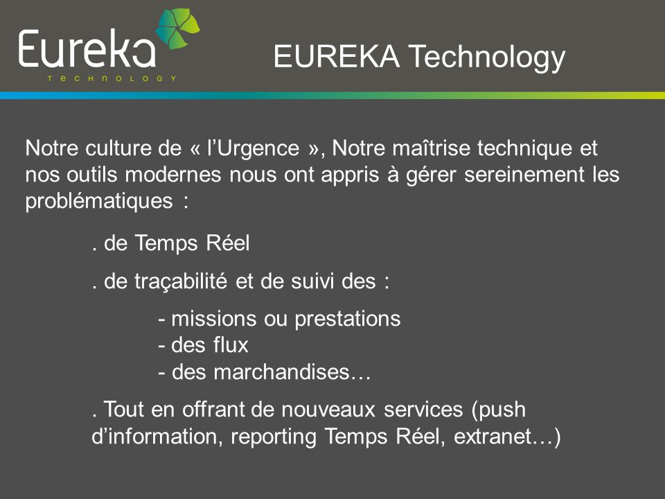 EUREKA Technology