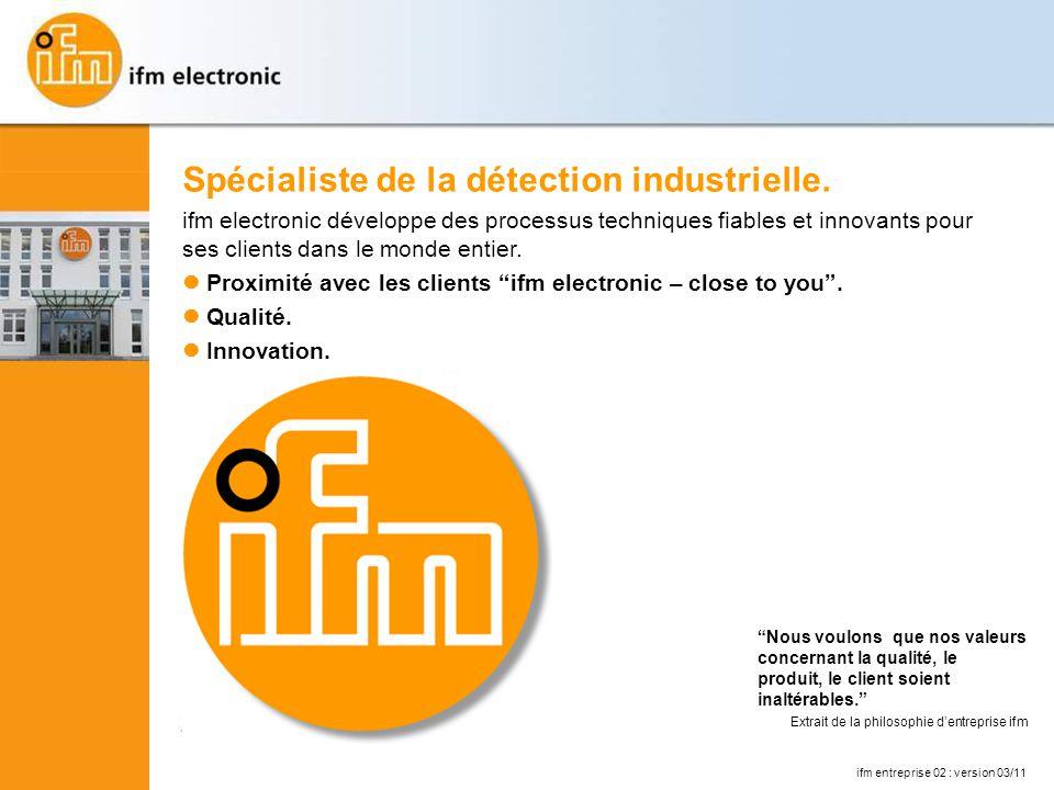 Spécialiste de la détection industrielle.