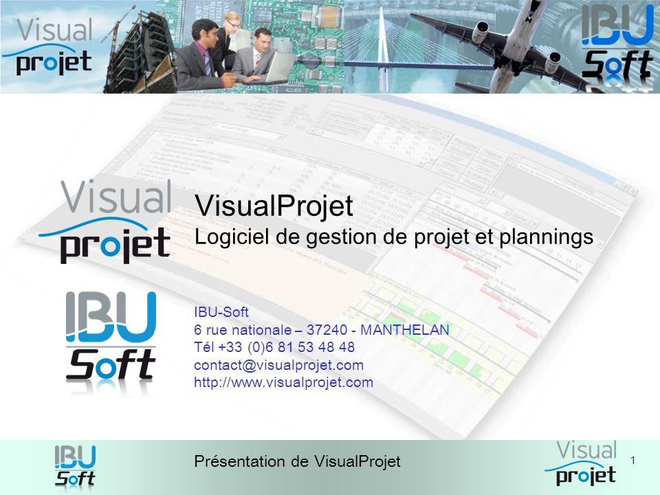 VisualProjet Logiciel de gestion de projet et plannings IBU-Soft