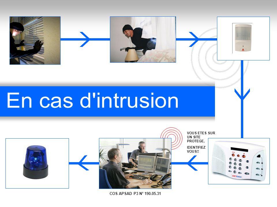 En cas d intrusion COS APSAD P3 N° 190.05.31