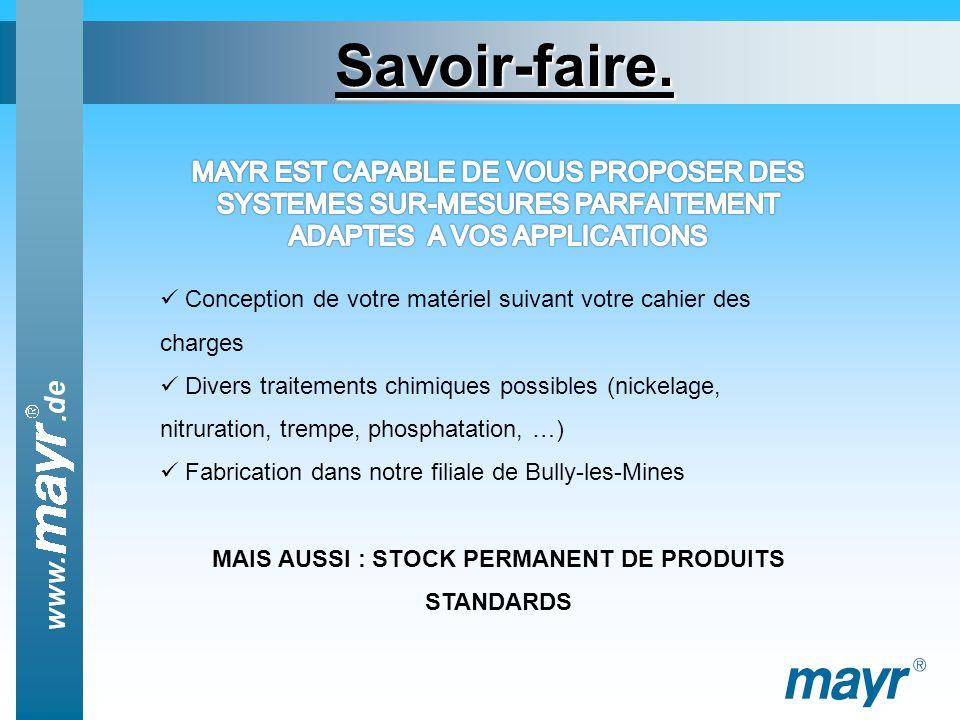 MAIS AUSSI : STOCK PERMANENT DE PRODUITS STANDARDS