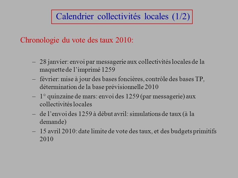 Calendrier collectivités locales (1/2)