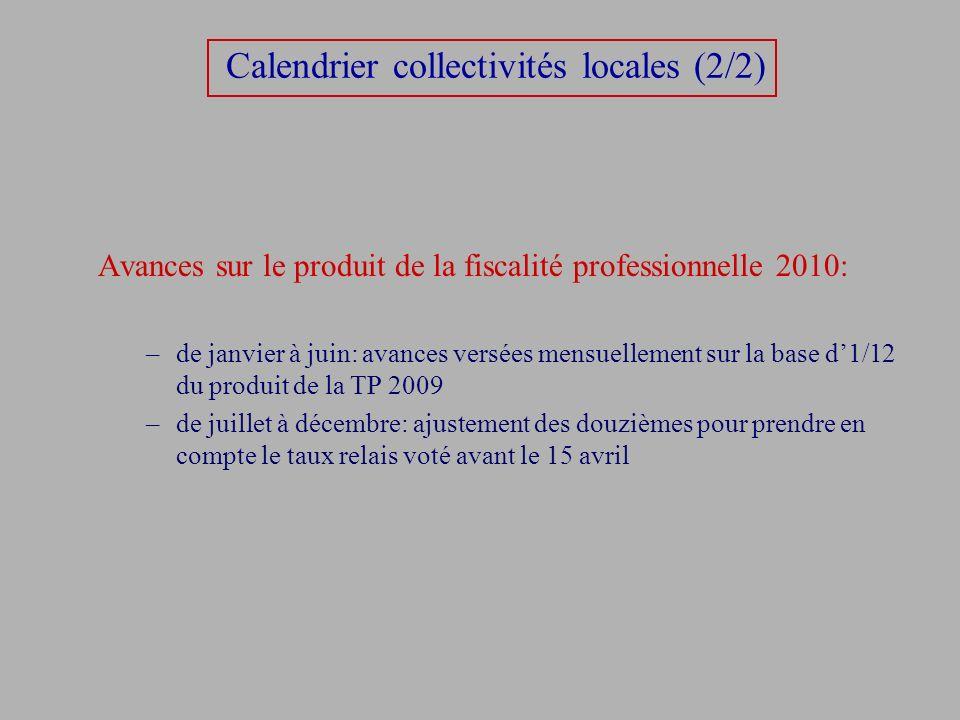 Calendrier collectivités locales (2/2)