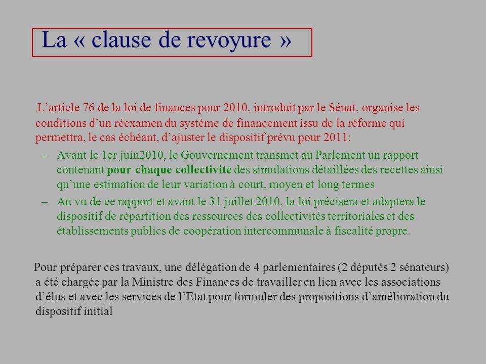La « clause de revoyure »