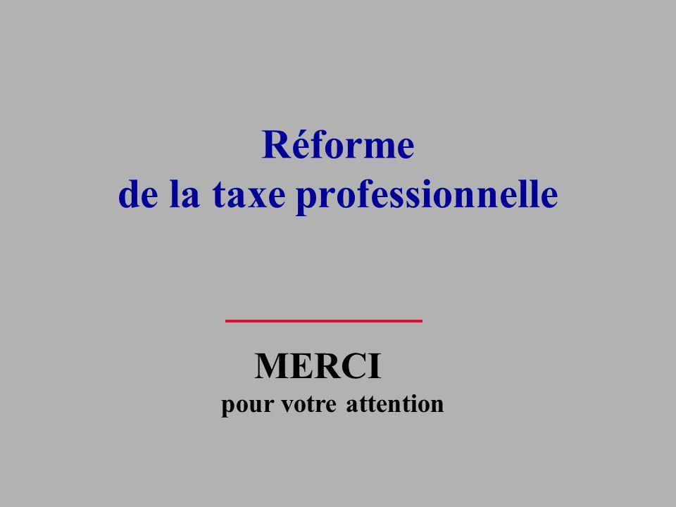 Réforme de la taxe professionnelle